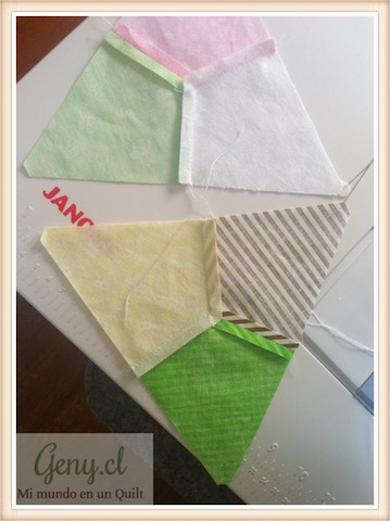 Piezas de Patchwork realizadas con mi Janome